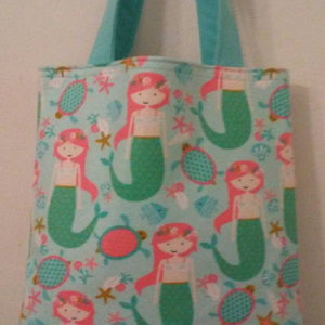 Mermaid's Sea Party Tote for Young Girls